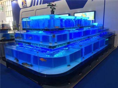 广州定做大型鱼缸多少钱-佛山洋清水族超白玻璃鱼缸厂家批发-番禺玻璃海鲜鱼池定做安装