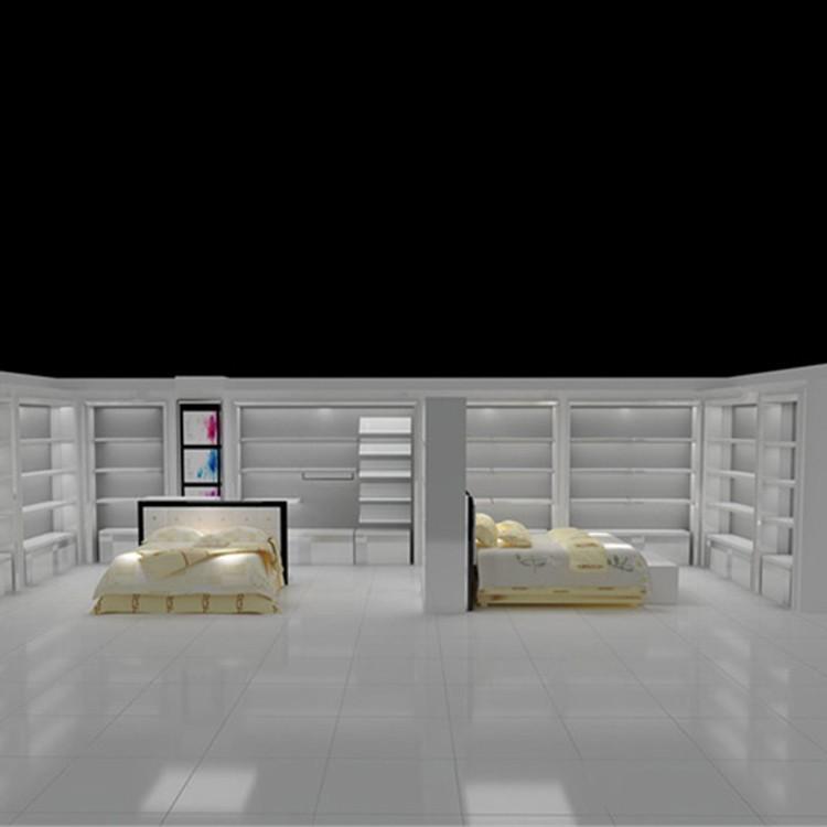 床上用品展示台-展示柜厂家定制-浩裕床上用品展示柜