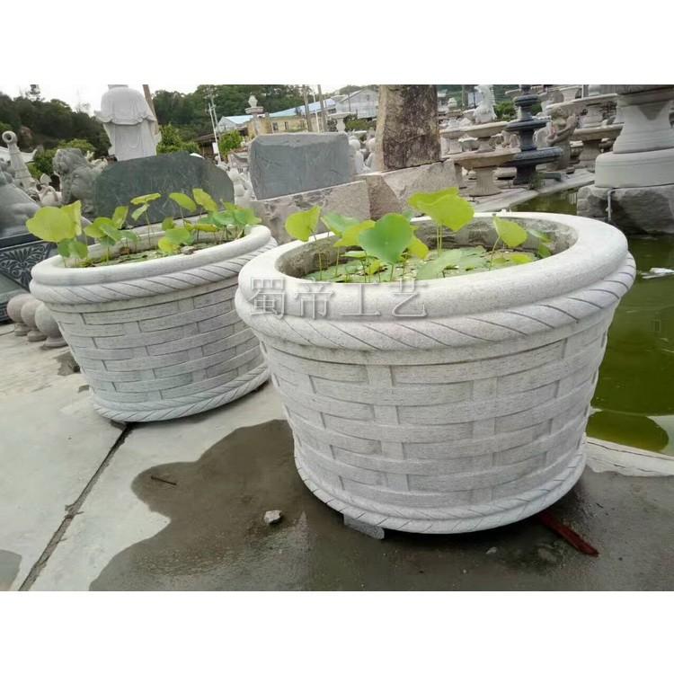 花岗岩花盆园林景观花岗石花钵大理石花盆雕刻欧式花池摆件